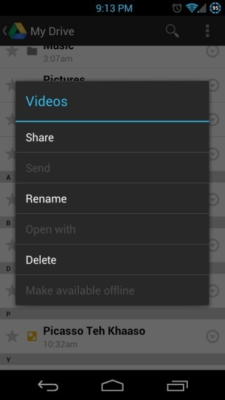 Google-Drive-for-Android-Folder-Context-Menu