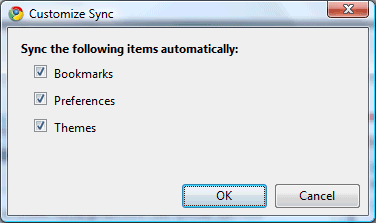 chrome-sync-custom